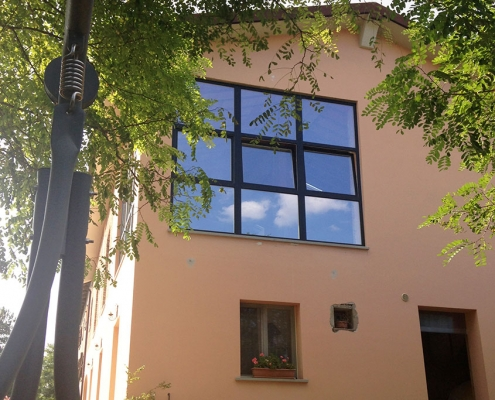 vista laterale edificio