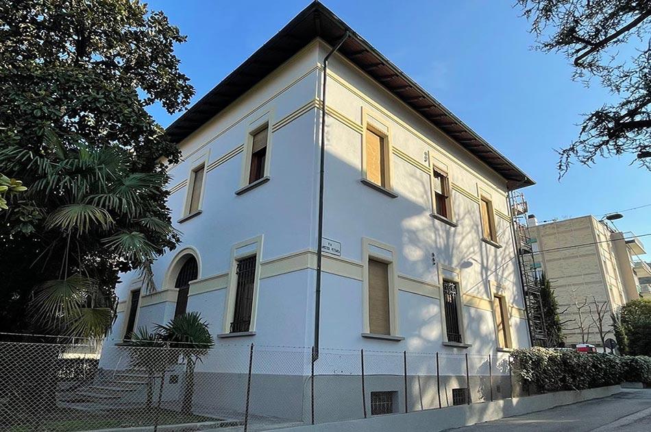 rifacimento facciata villa in città